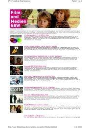 Seite 1 von 3 TV, Comedy & Entertainment 12.01.2012 http://www ...
