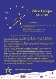 8 mai, orele 12:00 - masă rotundă - Centrul de Studii Europene
