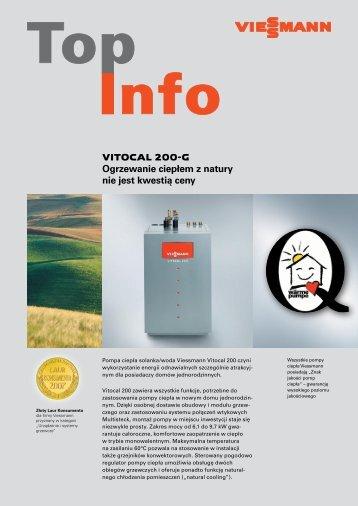 VITOCAL 200-G Ogrzewanie ciepłem z natury nie jest kwestią ceny