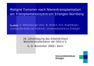 Maligne Tumoren nach Nierentransplantation