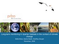 Long-term monitoring in riparian habitats in the context of climate ...