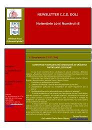 Newsletter Noiembrie 2011 - Casa Corpului Didactic Dolj