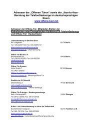 Adressen Februar 2013 - Netzwerk Offene Türen