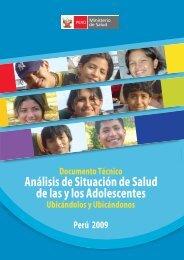 Análisis de Situación de salud de las y los adolescentes ... - codajic