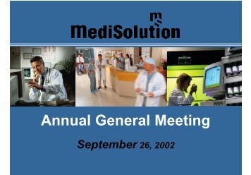 Annual General Meeting - MediSolution