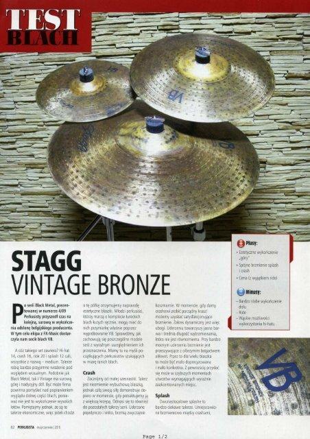 Test blach - Stagg Vintage Bronze SET: splash ... - FX-Music Group
