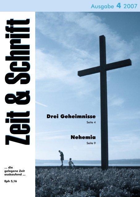 Heft 4/2007 - Zeit & Schrift