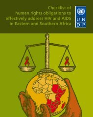 Checklist of human rights obligations to effectively address HIV and ...