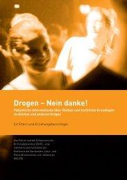 Drogen - Nein danke! (Datei herunterladen) - Kantonspolizei Bern
