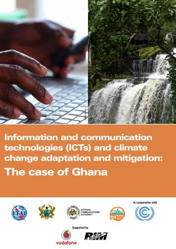 Information and communication technologies (ICTs) and ... - ITU