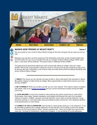 Issue 1: Making New Friends at Mount Marty - Mount Marty College