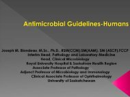 Antimicrobial use Guidelines in Human Medicine: Joe Blondeau