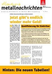 metallnachrichten - IG Metall Gaggenau