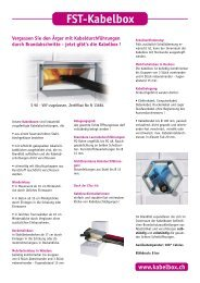 FST-Kabelbox - Airproduct AG