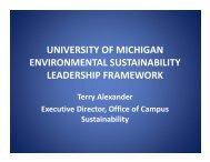 university of michigan environmental sustainability leadership ...