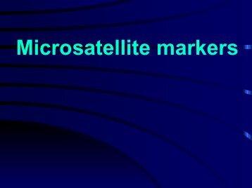 Microsatellite markers