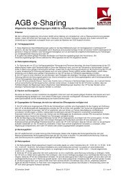 e-sharing AGB 2001-07-01 - Lautlos durch Deutschland