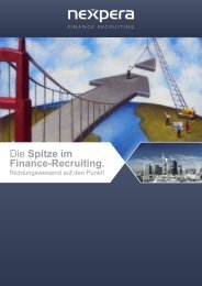 Unternehmens- informationen - nexpera FINANCE RECRUITING