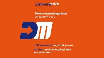 voor de presentatie onderzoek ... - DeliveryMatch