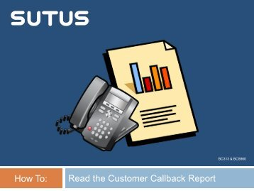 How To Read the Customer Callback Report