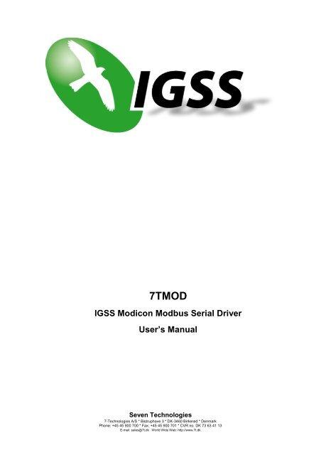 IGSS Modicon Modbus Serial Driver - 7-Technologies