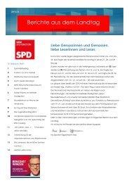 3. Ausgabe der Berichte aus dem Landtag - Spanier-Oppermann, Ina