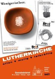 Gemeindebrief Lutherkirche München - paul grafik