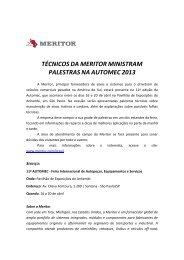 técnicos da meritor ministram palestras na automec 2013