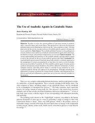 The Use of Anabolic Agents in Catabolic States - ePlasty
