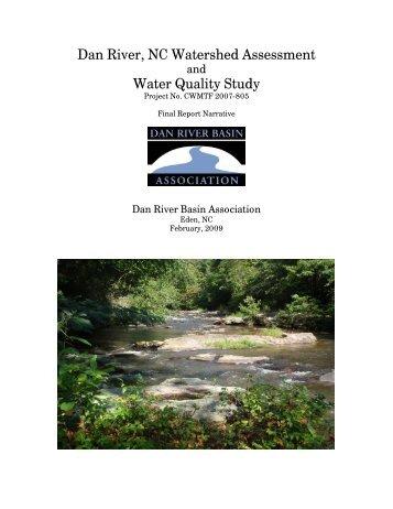 Bacteria and Sediment Study, January 2009 - Dan River Basin ...