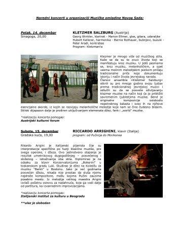 Naredni koncerti u organizaciji Muzičke omladine Novog Sada (.pdf)