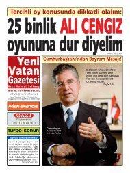 Tercihli oy konusunda dikkatli olalÿm: - Yeni Vatan Gazetesi Online