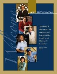 e DUKE STAFF HANDBOOK - Duke Human Resources - Duke ...