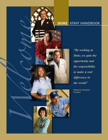 e DUKE STAFF HANDBOOK - Duke Human Resources - Duke ...