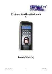 Přístupová čtečka otisků prstů F7 Instalační návod - Eurosat CS