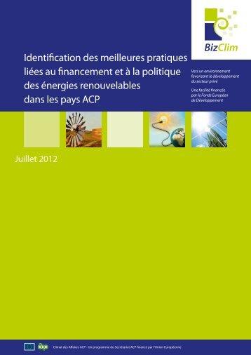 Identification des meilleures pratiques liées au financement et à la ...