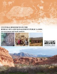 Cultural Resources on the Bureau of Land Management Public Lands