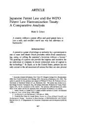Japanese Patent Law and the WIPO Patent Law ... - HeinOnline