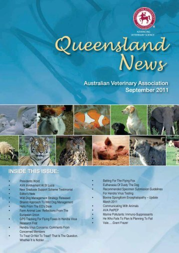 September 2011 - Australian Veterinary Association