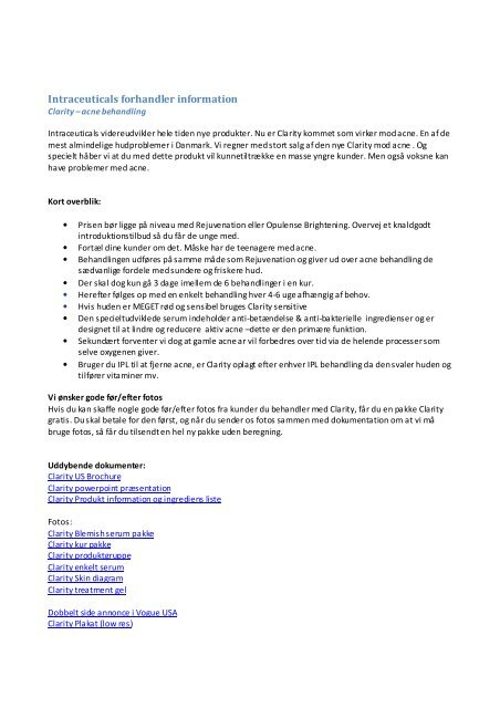forhandler clarity information.pdf - Nyt Smil