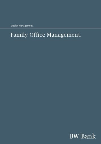 Family Office Management. - Family Office Panel