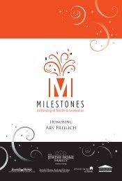 MILESTONES - Jewish Home Assisted Living