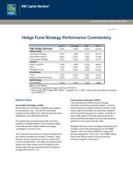 Hedge Fund Strategy Performance Commentary - the Family Office ...