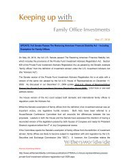 Keeping up with - the Family Office Association