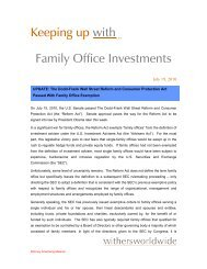Keeping up with... Family Office Investments - the Family Office ...