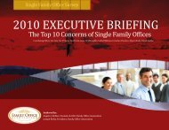 2010 EXECUTIVE BRIEFING - the Family Office Association