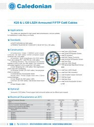 K20 & L120 LSZH Armoured F/FTP Cat6 Cables