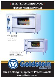 Bench Convection Ovens - Group Maintenance