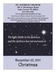 Bulletin - St. Patrick Catholic Church | Lake Forest, IL