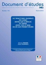 DE2012-170 - Les trajectoires salariales des jeunes entrés sur le ...